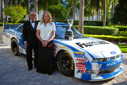 NASCAR Nationwide Series champion owner Jack Roush with guest