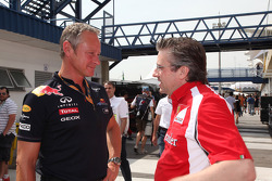 Red Bull Racing Team Manager Jonathan Wheatley with Pat Fry Technical director Ferrari
