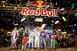 Podium: All Star winnaar Jan Heylen met 2de Jay Howard, 3de Ben Cooper, Karter winnaar Danny Formal