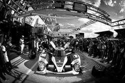 PIt stop practice for #10 Team Oreca Matmut Peugeot 908 HDI-FAP: Nicolas Lapierre, Loic Duval, Olivier Panis