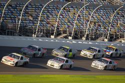 Joey Logano, Joe Gibbs Racing Toyota leads the pack
