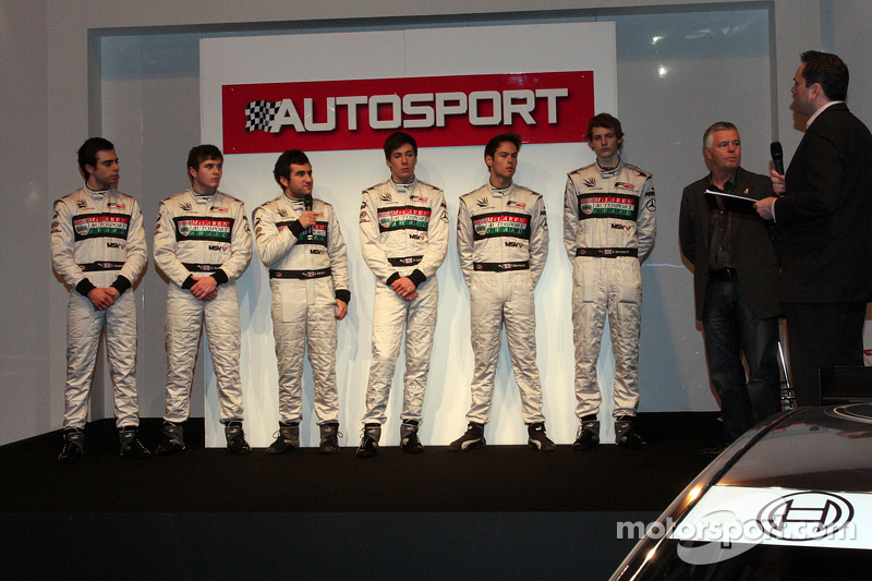 Derek Warwick and the Mclaren Autosport BRDC award finalists