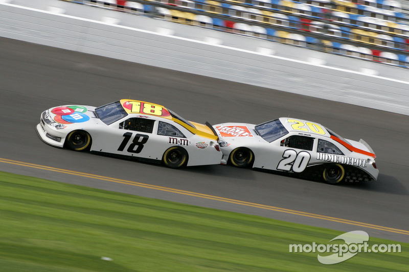 Kyle Busch, Joe Gibbs Racing Toyota and Joey Logano, Joe Gibbs Racing Toyota