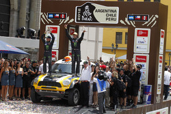 Podium: second place in Car category Nani Roma and Michel Périn