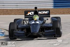 Tony Kanaan shakes down KV Racing's IndyCar before Rubens Barrichello takes his first test
