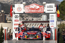 Podium: fourth place Mikko Hirvonen and Jarmo Lehtinen, Citroën DS3 WRC, Citroën Total World Rally Team