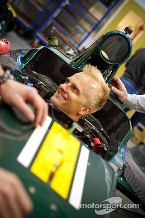 Heikki Kovalainen in the Caterham CT01