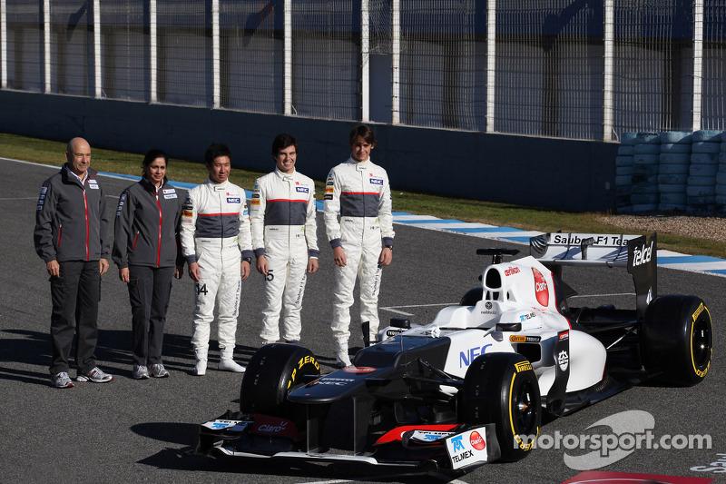 Peter Sauber, Sauber F1 Team, Team Principal with Monisha Kaltenborn, Managing director, Sauber F1 T