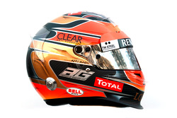 Romain Grosjean, Lotus Renault F1 Team helmet