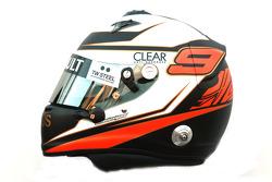 Kimi Raikkonen, Lotus Renault F1 Team, kask