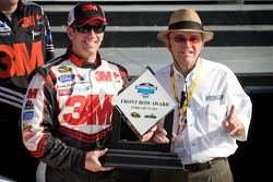 Second fastest qualifier Greg Biffle, Roush Fenway Racing Ford with Jack Roush