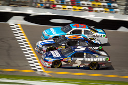 Kasey Kahne, Hendrick Motorsports Chevrolet, Ricky Stenhouse Jr., Roush Fenway Racing Ford, Aric Almirola, Richard Petty Motorsports Ford