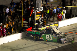 David Starr, Toyota crashes into the pitlane wall