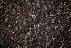 Fans watch pre-race activities
