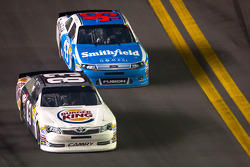Landon Cassill, BK Racing Toyota and Aric Almirola, Richard Petty Motorsports Ford
