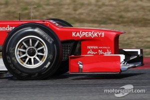 Ferrari front wing and nose cone