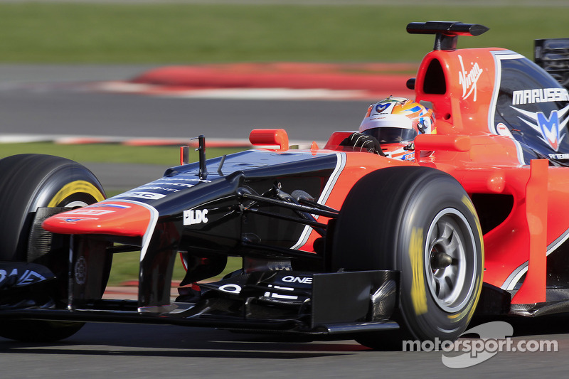 Timo Glock tests the new Marussia F1 MR01