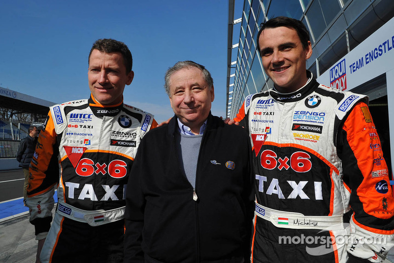 Gabor Weber, President FIA en Norbert Michelisz, BMW 320 TC, Zengo Motorsport