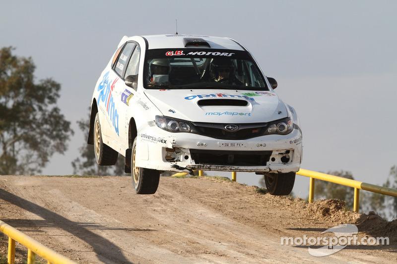 Gianluca Linari en Nicola Arena, Subaru Impreza STI