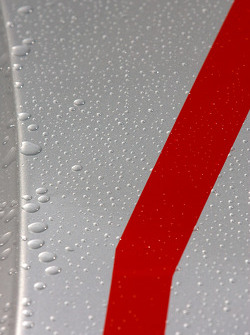 Rain drops on the Audi R18