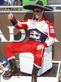 Podio: ganador Sébastien Loeb, Citroën Total World Rally Team