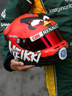 Helmet of Heikki Kovalainen, Caterham F1 Team