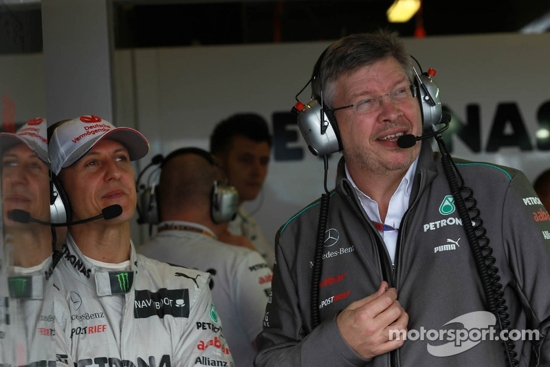 Michael Schumacher, Mercedes GP y Ross Brawn, director del equipo, Mercedes GP Petronas