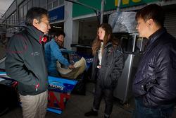 Michael Kim, Cyndie Allemann and Yuku Taniguchi