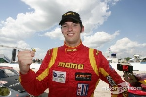 Sean Edwards celebrates GTC pole