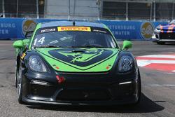 #14 Flying Lizard Motorsports, Porsche Cayman GT4 Clubsport MR: Nathan Stacy