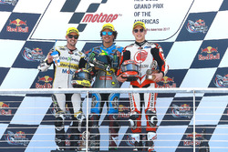 Podium: race winner Franco Morbidelli, Marc VDS, second place Thomas Luthi, CarXpert Interwetten, third place Takaaki Nakagami, Idemitsu Honda Team Asia