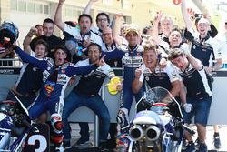 Second place Jorge Martin, Del Conca Gresini Racing Moto3, third place Fabio Di Giannantonio, Del Conca Gresini Racing Moto3