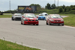 #95 Ülkü Motorsport, Hakan Mete Kutay, Honda Civik Type-R, #17 Metin Çalişkan, Honda Civik Type-R
