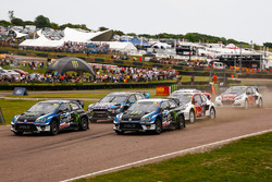 Johan Kristoffersson, Volkswagen Team Sweden, VW Polo GTi; Petter Solberg, PSRX Volkswagen Sweden, VW Polo GTi