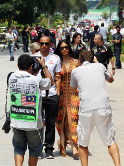 Lewis Hamilton, McLaren with girlfriend Nicole Scherzinger, Singer
