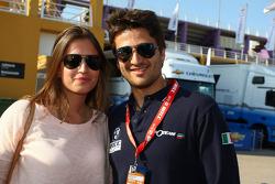Isaac Tutumlu, BMW 320 TC, Proteam Racing with his girlfriend