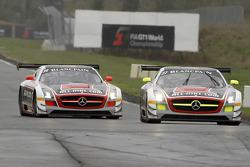 #37 All-Inkl.com Münnich Motorsport Mercedes-Benz SLS AMG GT3: Nicky Pastorelli, Thomas Jäger, #38 All-Inkl.com Münnich Motorsport Mercedes-Benz SLS AMG GT3: Marc Basseng, Markus Winkelhock