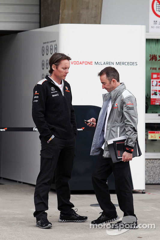 Sam Michael, McLaren Mercedes Sporting Director with Paddy Lowe, McLaren Mercedes Technical Director