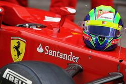 The helmet of Felipe Massa, Scuderia Ferrari at a team photograph