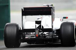 Lewis Hamilton, McLaren Mercedes rear diffuser detail