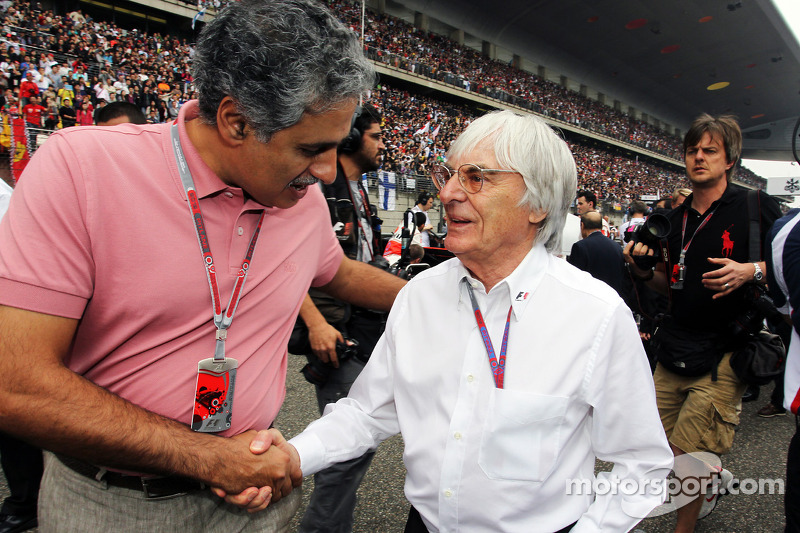 Salman Bin Isa Al Khalifa, CEO Bahrain International Circuit met Bernie Ecclestone, CEO Formula One Group,