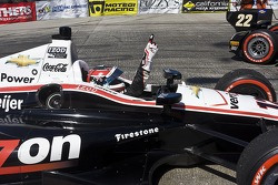 Victory celebration for Will Power