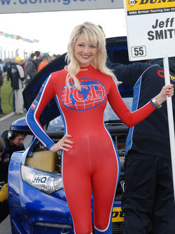 Pirtek Racing Grid Girl to Jeff Smith