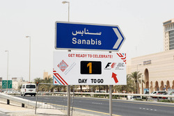 One day to the start of the Bahrain GP weekend sign