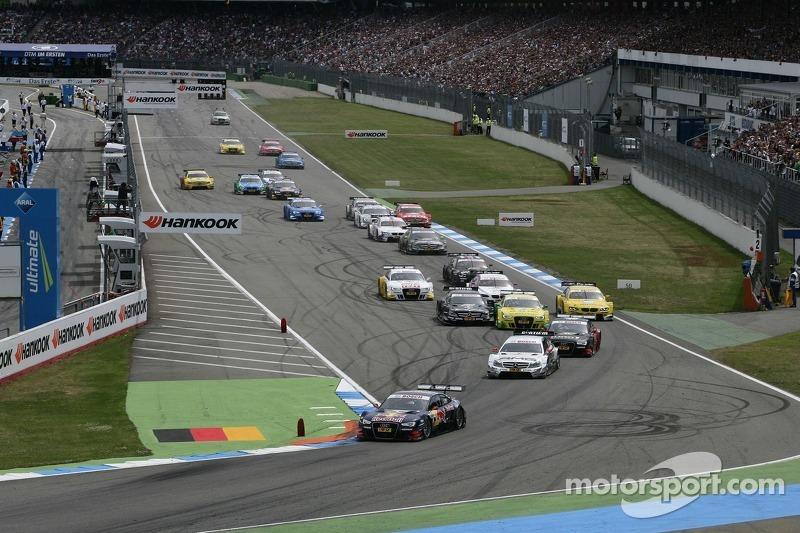 Start of the Race, Mattias Ekström, Audi Sport Team Abt Sportsline, Audi A5 DTM leads