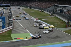 Start of the Race, Mattias Ekström, Audi Sport Team Abt Sportsline, Audi A5 DTM leads