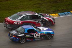 #181 APR Motorsport Volkswagen Jetta: Hector Guerrero, Juan Pablo Sierra, #04 CJ Wilson Racing Mazda MX-5: Bruce Ledoux, Marc Miller