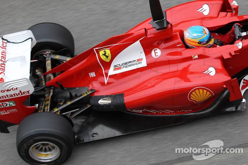 Fernando Alonso, Scuderia Ferrari met nieuwe uitlaat