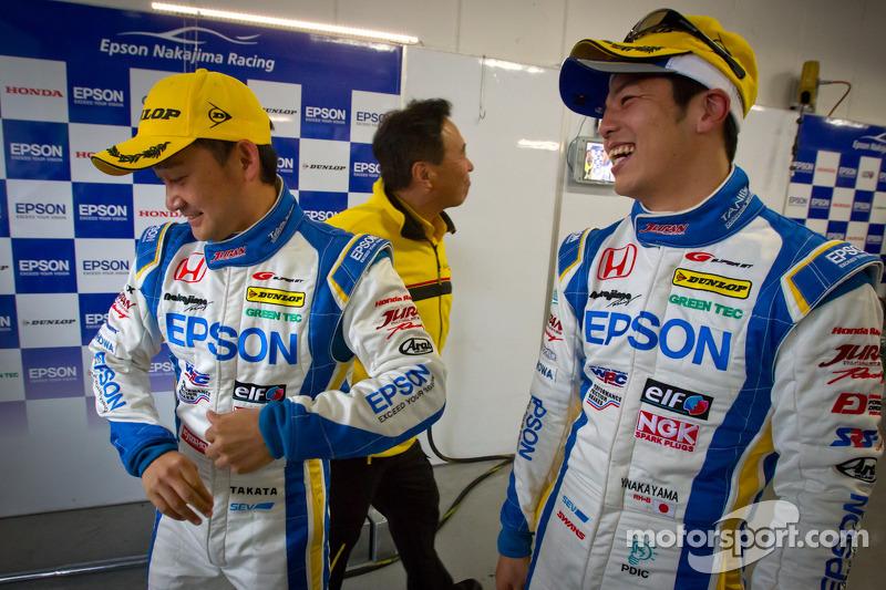 GT500 pole winners Ryo Michigami and Yuki Nakayama