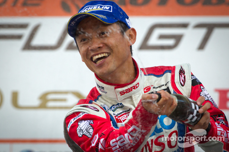 GT500 podium: winnaar Juichi Wakisaka